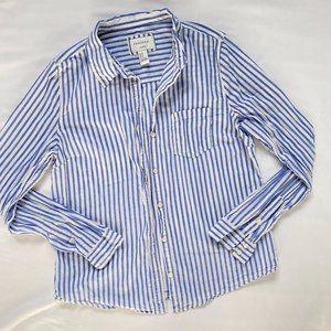 3/20$ Forever 21 Blue Striped Long Sleeve